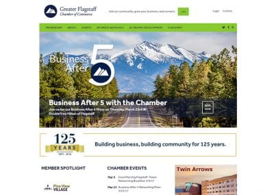 Greater Flagstaff Chamber of Commerce - Flagstaff, AZ: WordPress CMS / Website Design / SEO / PPC / Event Marketing / Social Media / Lead Conversion Optimization / Ecommerce / Graphic Design / Publication Design