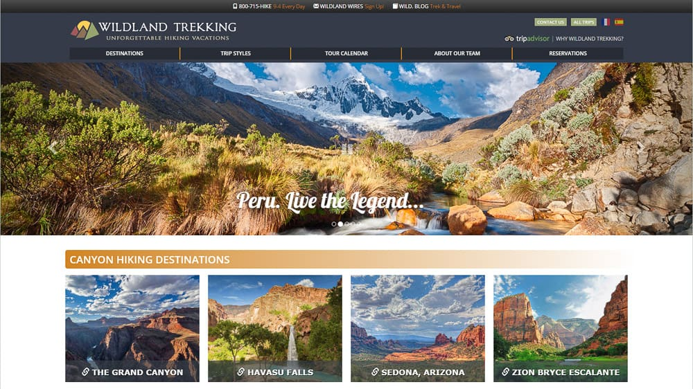 Wildland Trekking - Flagstaff, AZ: WordPress CMS Support / Website Design / SEO