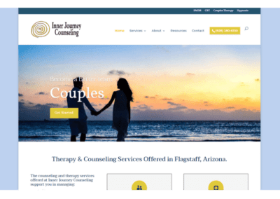 Inner Journey Counseling Project: Wordpress CMS / Website Design / SEO / Citation Managment / Reputation Management / Lead Conversion Optimization