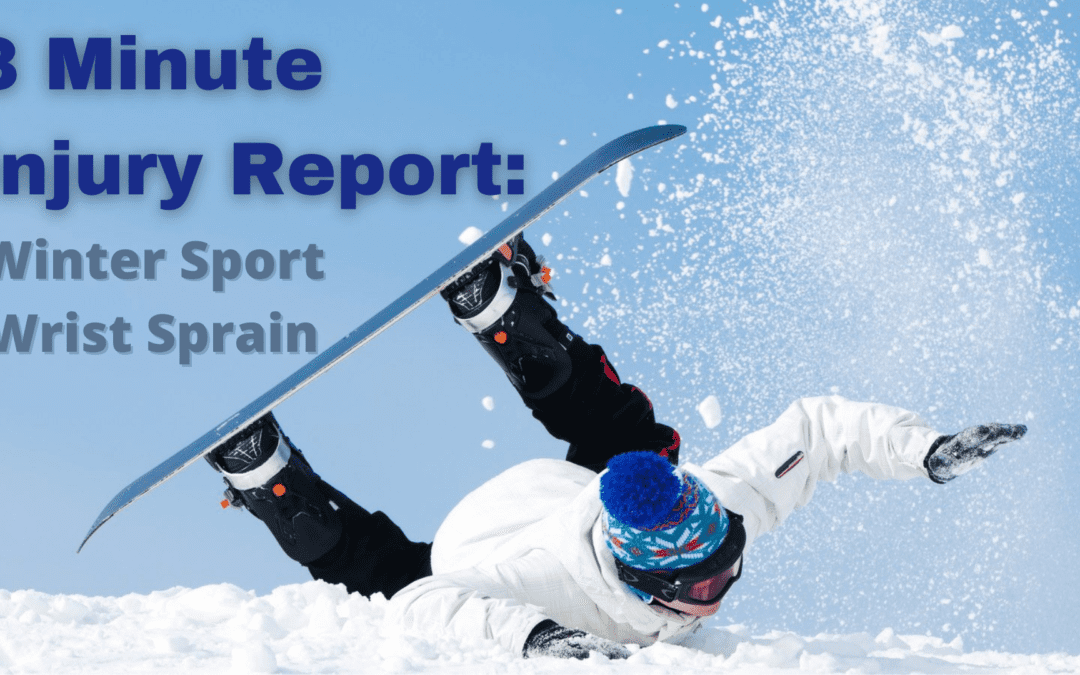 3 Minute Injury Report: Spraining Your Wrist
